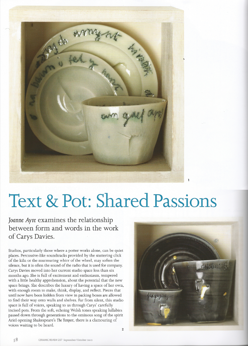 Text and Pot in Ceramic Review 257