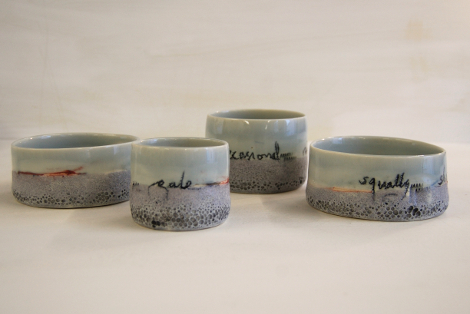 on the horizon porcelain bowls